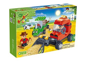 Banbao - 130 Piece Farm Workers Compatible with the Leading Brand - Boy Boys Child Kids - Best Selling Building Blocks Toy Game Christmas Xmas Present Gift