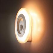 Modern decorative wall lamp Indoor LED light control Nightlight hallway human sensor lamps , 0.5-white