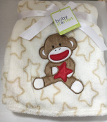 Baby Starters Sock Monkey with Stars Fleece Blanket