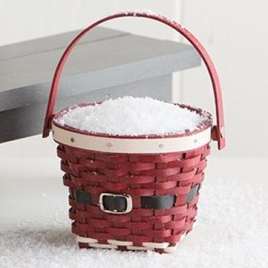 Longaberger Miniature Santa Belly Measuring Basket