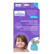 Baby Works Baby Powder Scented Nappy Bags - 50ct x 12