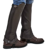 Riders Trend Full Grain Leather Gaiter with Dual Stretch Leather Panel