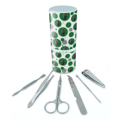 Manicure Pedicure Grooming Beauty Personal Care Travel Kit (Tweezers,Nail File,Nail Clipper,Scissors) - Hand Grenade Frag Explosive Weapon Green