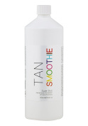 Tan Smoothie 1 Litre Salon-Size SUPER SHOT 1hr EXPRESS Spray Tan Solution with Instant Dark Tint Guide Colour Organic Natural Ingredients and added Aloe Vera & Skin Smoothers - Mobile Fast 60 min Tan