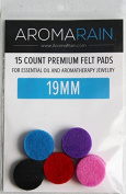 AromaRain Essential Oil Replacement Pads (19mm) - Fits Different Diffuser Bracelets and Necklaces