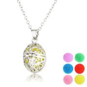 Kloud City ® Oval Egg Shaped Essencial Oil Perfume Aromatherapy Necklace Padent