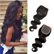 Queen Plus Hair Body Wavy 3 Bundles 7A Grade Unprocessed Brazilian Virgin Hair with (4×4) Top Lace Closure Free Style Part Natural Colour Weave Bundle