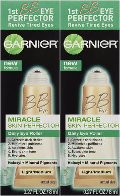 Garnier Skin BB Eye Miracle Skin Perfector Eye Roller, Fair/Light, 0.27 Fluid Ounce (Pack of 2)