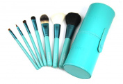 ZOREYA 7pcs Natural Animal Hair Cosmetic Makeup Brushes With Leather Cup Holder