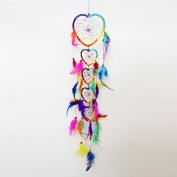 The Hippy Clothing Co. Rainbow Heart Dreamcatcher Chain