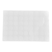 sourcingmap Furniture Self-adhesive Screw Hole Stickers Covers on One Sheet 54 in 1 White