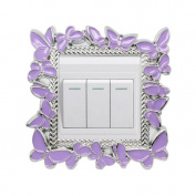 Lalang Butterfly Light Switch Stickers Luxurious Light Switch Stickers Cover Home Decoration Sticker