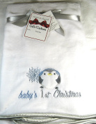 Baby's First Christmas Blanket for Boys White 70cm x 80cm 100% Polyester