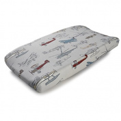 Vintage Aeroplanes Contoured Changing Pad Cover