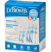 Set Dr. Brown 5 Bottles 7 Nipples BPA Phtalate & Lead Free Internal Vent's 3 New!!!