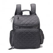 Vlokup Best Multifunction Designer Baby Nappy Bag Backpack Travel Nappy Bag for . Moms & Dads Smart Organise System Waterproof with Changing Pad, Wet Bag, Stroller Straps Grey