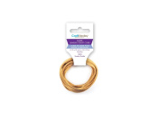 Craft Medley CC526D 100% Suede 3mm/2m Flat Jewellery & Craft Cord, Dark Natural