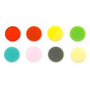 2.5cm Circle Rainbow Assortment Fusible Pre-Cut 8 Pack - 90 COE