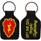 U.S. ARMY 25TH INFANTRY DIVISION TROPIC LIGHTNING KEY CHAIN - Multi-Coloured - Veteran Owned Business