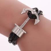 Diamondo Leather Bracelet Men Women Gold Anchor Bracelet