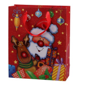 "2pcs x Premium Large Pop-Up Christmas Gift Bags 32x26cm (or 12.6""x10.23"") Guaranteed"