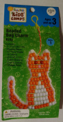 "BUSY KIDS ""KIDS' CAMP BEADED BAG CHARM KITTY"
