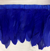 Duck Duck Goose Feather Fringe (Selling Per Yard) Royal Blue 13cm - 18cm Long