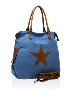 LeahWard School Bags Women's Canvas Shoulder Bag Handbag For Holiday Weekend Light Weight Bags