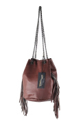 BORDERLINE - 100% Made in Italy - Woman's Bucket Bag in real leather - GIULIA