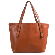 HDE Women's Street Chic Tote Bag Leather Carryall Purse