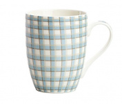 YX.LLA Continental Minimalist Ceramic Cups Couples Mug The Office Of The Household Water Cup Milk Cup,Grid Not Worthy Lid