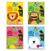 BEAR Nibbles Artic, Dino, Jungle, Safari PAWS Pure Fruit Shapes Selection 4 x 5 x 20g