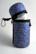 Butler bottle holder purple flower - thermal, machine washable and easy to carry