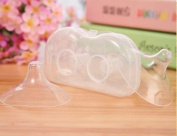 Efbock Ultra-thin Silicone Nipple Shield Maternity Silica Gel Nipple Protector Baby Breast Milk Feeding 1pair
