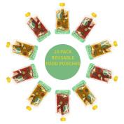Reusable Food Pouch Transparent Mould Free (10 Pk)