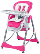 Caretero Bistro High Chair 6 months - 4 years , Farbe:Magenta