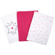 Baby Wipes Pack of 3 Fuchsia 100% Cotton Muslin Cloth Muslin Nappies