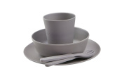 BoBo and Boo Bamboo 5 Piece Dinner Set - Pebble Grey