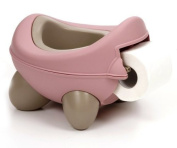 Baby Bug Potty Pink Beige - with toilet roll holder by Kids Kit