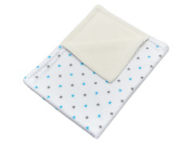 Minififia Baby Blanket Grey with Stars on White