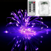 5m 50Leds Copper Colour Decor String Light 8 Mode Battery Operated w / Remote Control
