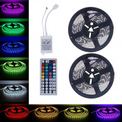 LED Strip Lights Kit, Paymenow 10M RGB 5050 SMD 600LED Flexible Light Strip Lamp String lights with 44Key IR Remote Controller for Garden, Home, Bar, Christmas DIY Party Decoration