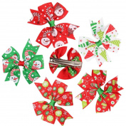 5PCS Girl Baby Christmas Ornaments Bowknot Hairpin Headdress by FEITONG