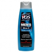 Alberto VO5 Mens 3-IN-1 Shampoo, Conditioner & Body Wash, Oceans Surge 370ml