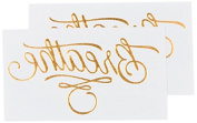 Tattly Temporary Tattoos, Breathe/Gold, 5ml