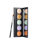 Red & Black Professional 5 Colours Camouflage Concealer Makeup Palette , 5 main Corrective Shades (Size