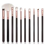 Fullkang 10Pcs Cosmetic Brush Makeup Brush Sets Kits Tools