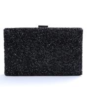 Nodykka Evening Party Rhinestone Embellished Clutches Bag Shinny Cross Body Handbags Purse