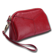 iSuperb Leather Clutch Bag Zipper Wallet Wristlet with Wrist Strap for Women Christmas Gift 7.3x 4.7.6cm x 5.1cm
