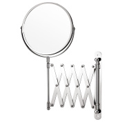 Top Home Solutions Magnifying Wall Mounted Makeup Mirror Extending Shaving Cosmetic Mirror Double Sided Bathroom Swivel Vanity Mirror